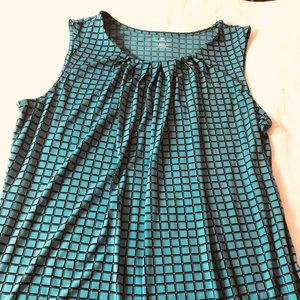 Teal Green Dressy Sleeveless Top